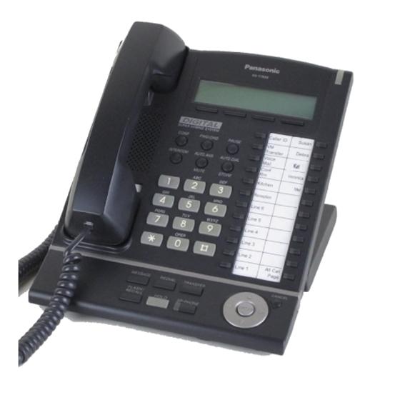Panasonic Kx T7633 B Digital Telephone Black 3 Line Lcd Proprietary Phone