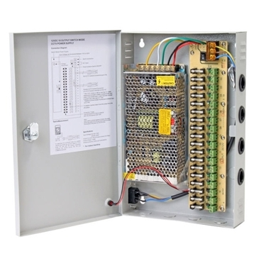 Q-See QS1008 10AMP Power Distribution Panel Connects 8 Cameras