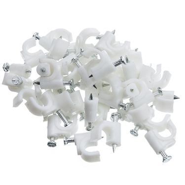 CableWholesale 200-961 RG6 Cable Clip-White (100 pieces)