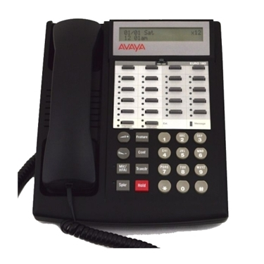 Refurbished - Avaya 3158-07 Partner Eurostyle 18D Display Phone - Black