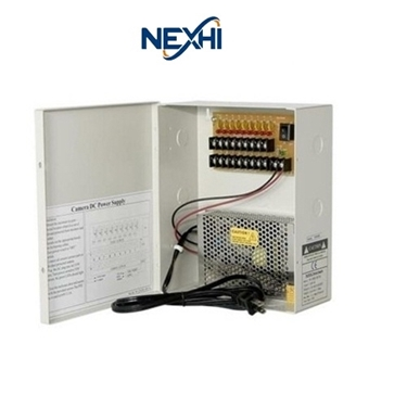 Nexhi NXS-PD1218-15A-PS 12V 18-Port Power Supply Box with 15AMP and CE Certified- For CCTV Camera