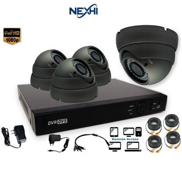 Nexhi NXH-TVI704-202DV6B-DS 4CH 1080P HD-TVI DVR Complete Surveillance System