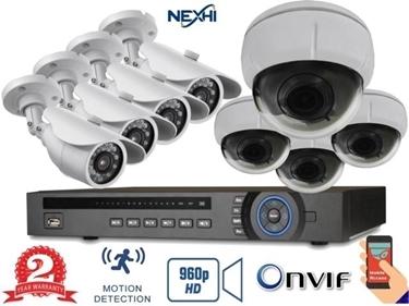 Nexhi® NXH-4216-132Q-D29-1NS 16CH 960P NVR Complete Surveillance System