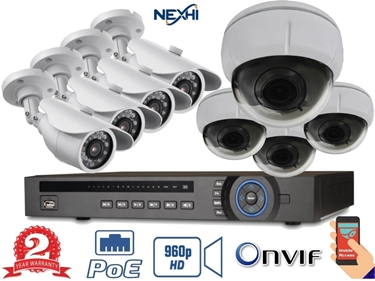 Nexhi® NXH-4216P-132Q-D29-1NS 16CH 960P 16-POE Built-in NVR Complete Surveillance System
