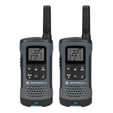 Motorola MOT-T200 Gray Rechargeable 2-Way Radio Twin Pack
