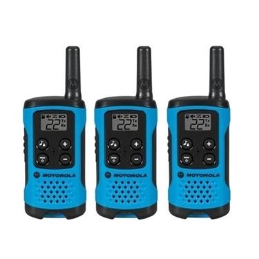 Motorola MOT-T100TP 3 Pack 16 Mile Range Blue Radios