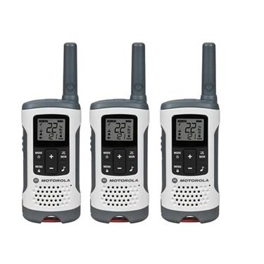 Motorola MOT-T260TP 3 Pack FRS 25 Mile Range NOAA Vox Radios