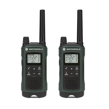 Motorola MOT-T465 35 Mile 2 Pack NOAA Radios w/ PTT Earbud