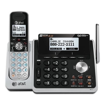 AT&T TL88102 2-Line Cordless Digital Answering System with ITAD
