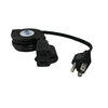 Nexhi ZIP-PWR-EX1 Retractable AC Power Extension Cord (5 feet, Black)