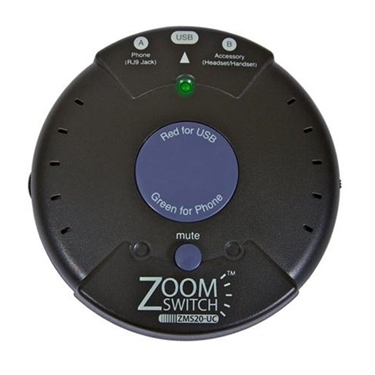 Zoom ZM-ZMS20-UC Zoomswitch headset with Mute