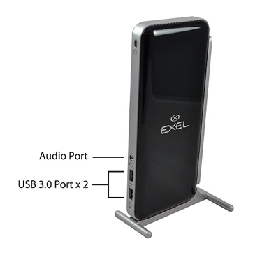 Exel USB 3.0/2.0 Universal Docking Station with Gigabit Ethernet