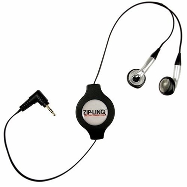 ZipLINQ Retractable 2.5mm Earbuds