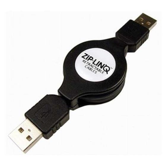 ZipLinq ZIP-USB2-C06 USB 2.0 Retractable A To A Device Cables