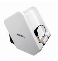 Audio Unlimited SPK-TRANS2 Dual Powered Wireless Transmitter for SPK-ROCK & SPK-VELO Series with Adapter - White