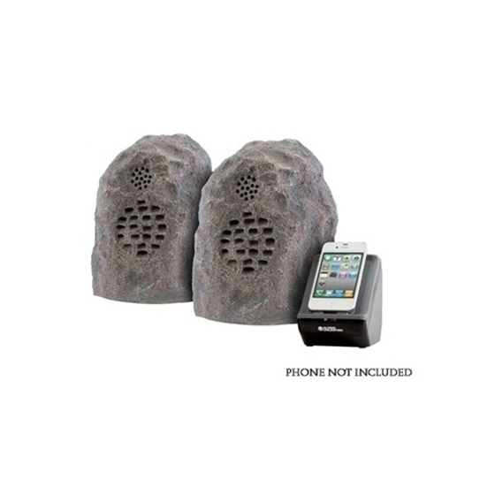 Audio Unlimited SPK-ROCK-DUO2 900MHz Granite Wireless Rock Speaker Pair