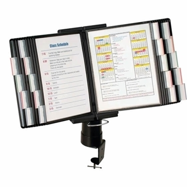 Aidata FDS011L-20 Desk Clamp Reference Organizer (20 Panel)