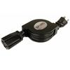 Nexhi ZIP-PWR-EX1 Retractable AC Power Extension Cord (5 feet, Black)