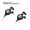 Bundle of 2 - ZipLINQ ZIP-AUDIO-CD6 Retractable 2.5mm Earbauds - Black