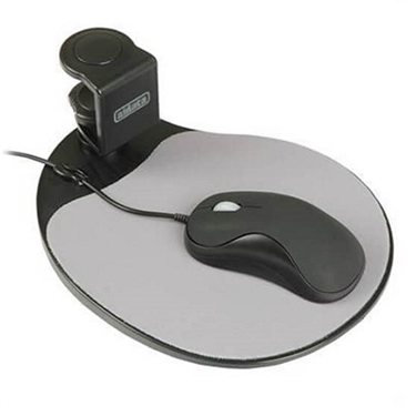 AiData UM003B ErgoGuys Swivel Ergonomic Under-Desk Mouse Platform-Black