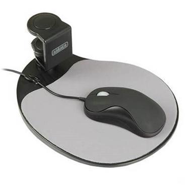 AiData ErgoGuys Swivel Ergonomic Under Desk Mouse Platform-Black