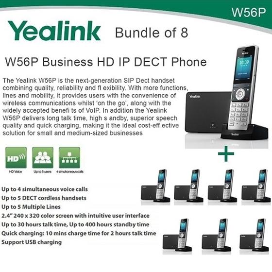 yealink w56p bundle of 8 business hd ip dect phone and base unit nexhi