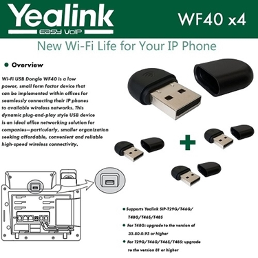 Yealink WF40 4-Pack USB Dongle Wi-Fi Plug And Play 150 Mbps