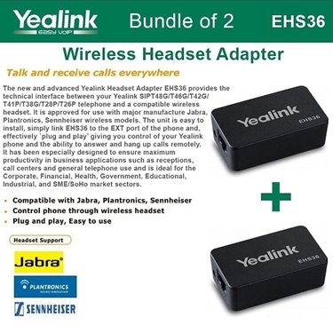 Yealink EHS36 - Bundle Of 2 IP Phone Wireless Headset Adapters