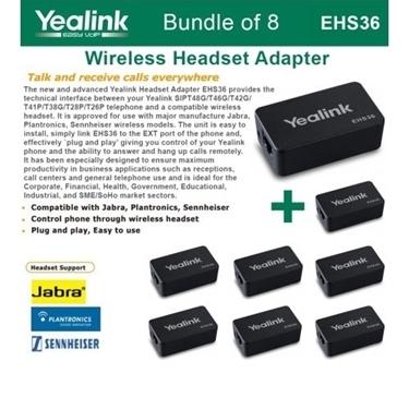 Yealink EHS36 - Bundle Of 8 IP Phone Wireless Headset Adapters