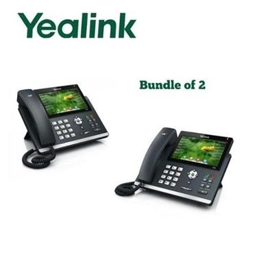 Yealink 2 Pack SIP-T46G Ultra-Elegant Gigabit IP Phone