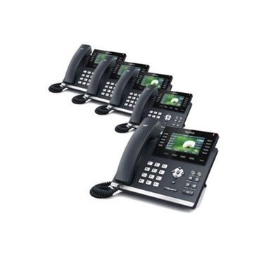 Yealink 5 Pack SIP-T46G Ultra-Elegant Gigabit IP Phone