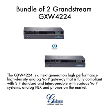 GrandStream GXW4224 Bundle of 2-pack 24 Ports High-Density FXS Gateway
