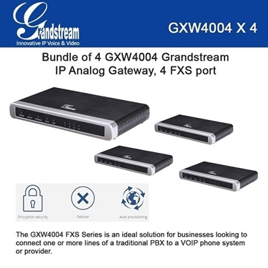 Grandstream GXW4004 BUNDLE of 4-pack 4 ports FXS IP Analog Gateway