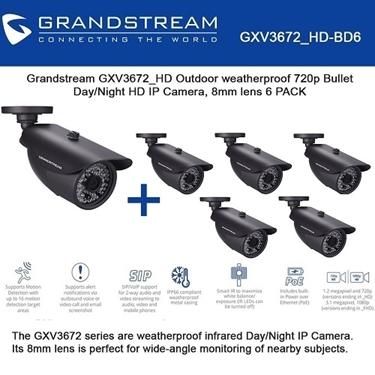 Grandstream Bundle of 6-packs Outdoor 720p HD IP Camera