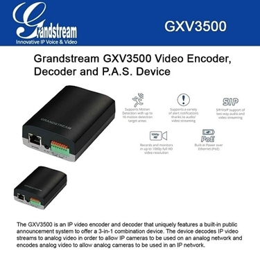 Grandstream Bundle of 2-packs IP Video Encoder-Decoder Ethernet