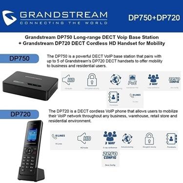 Grandstream DP750 DECT Base Station+DP720 DECT Cordless HD Handset