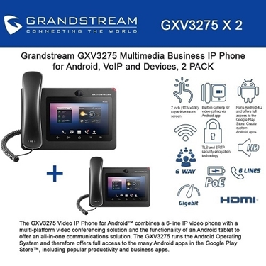 Grandstream GXV3275 Bundle of 2-packs Multimedia Business IP Phone