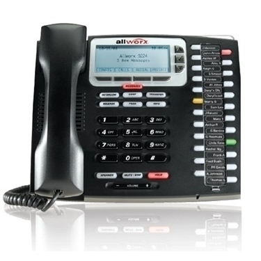 Bundle of 5-packs Allworx 9224 VoIP Phone with 24 Programmable Keys