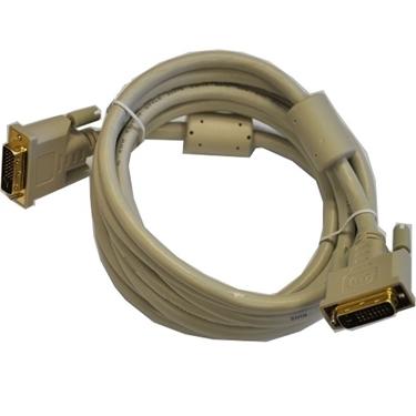 DVI-D Male to Male Dual Link Biege Color Cable 10ft