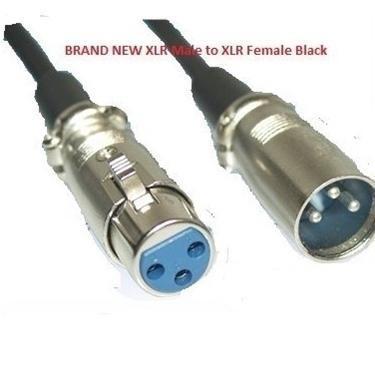Nexhi 15 feet Mic Patch Cords Cables XLR Male to XLR Female Black