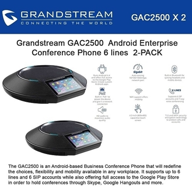 Grandstream Bundle of 2-pack Android Enterprise Conference Phone