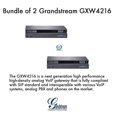 Grandstream Bundle Of 2-Pack 16 Ports FXS Analog PBX VoIP Gateway