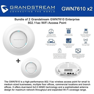 Grandstream Bundle of 2-pack Enterprise 802.11ac Wi-Fi Access Point