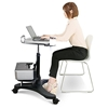 Aidata Ergonomic Sit-Stand Mobile Laptop Cart Work Station