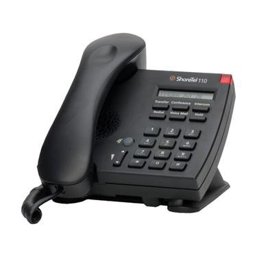 ShoreTel ShorePhone IP 110 Single Line IP Telephone Black