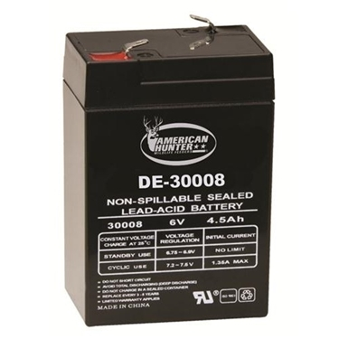 American Hunter GSM-DE-30008 6V 4.5 AMP HR Rechargeable Battery