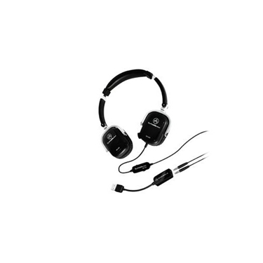Andrea Communications AND-SB-405B Black Both Ear Headset with Mics