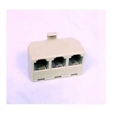 AT&T 89-0075-00 Triplex Adapter Ivory