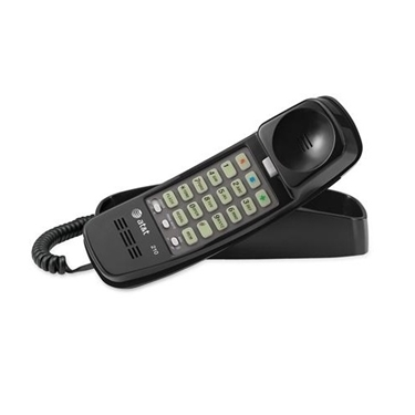 AT&T 210-BK Trimline Corded Phone with Speed Dial