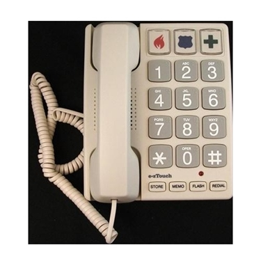 Cortelco 240085-VOE-21F Big Button SAND Corded Phone